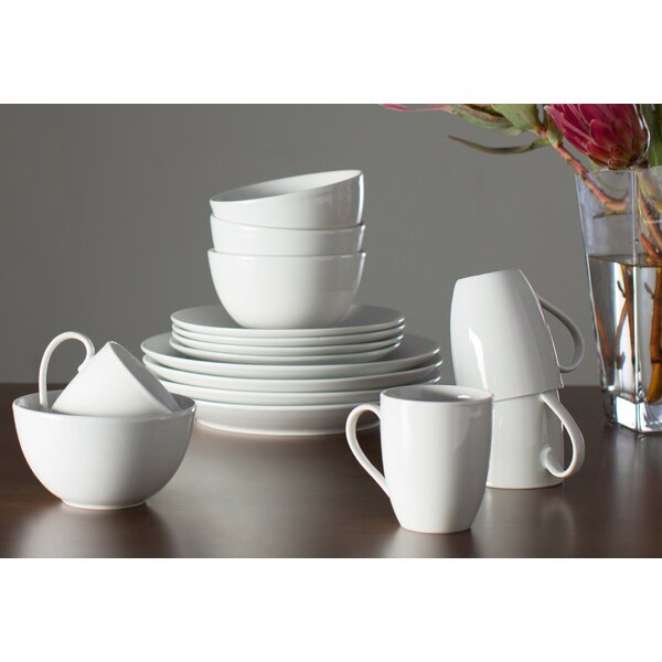 Tabletops Gallery Adam 16 Piece Dinnerware Set, Service For 4 U0026 Reviews |  Wayfair