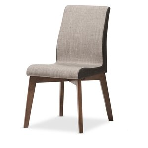 Baxton Studio Mona Mid-Century Modern Fabric Side Chair (Set of 2) by Wholesale Interiors