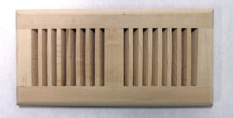 """5.63"""" x 11.25"""" Maple Wood Surface Mount Vent Cover"""