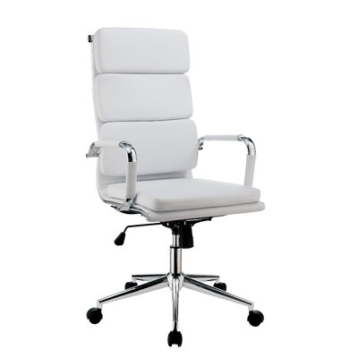 Brayden Studio Conference Chair Upholstery Color: White