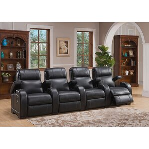 Leeds Home Theater 4 Row Recliner by Coja