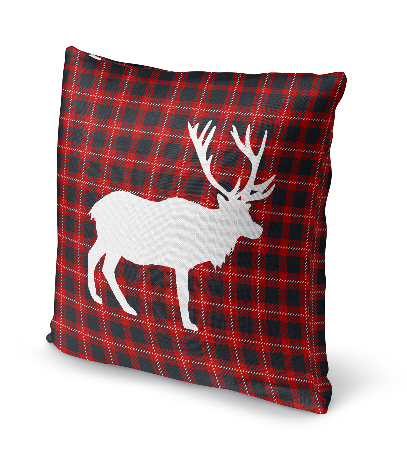 pin decorative pillowcase pillows pillow covers scottish plaid cushion cover case winter buffalo christmas deer toss throw