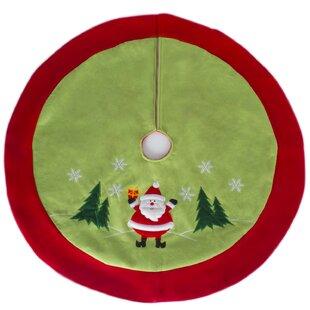 Traditional Jolly Santa Clause Christmas Tree Skirt