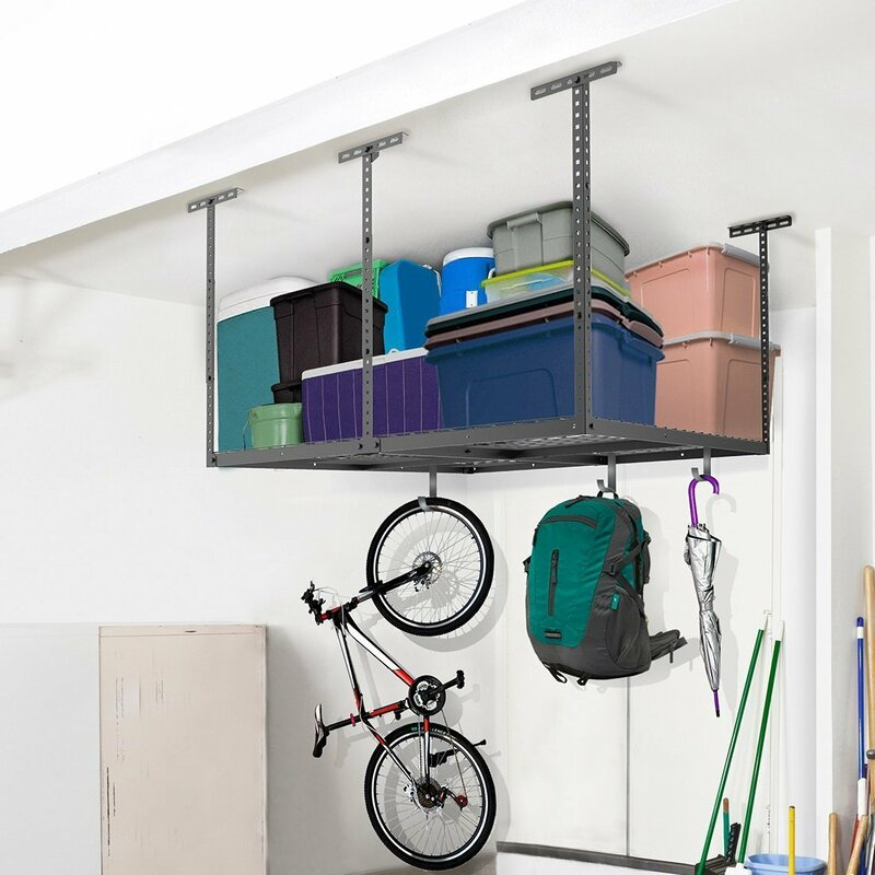 Overhead Garage Storage Adjustable Ceiling Storage Rack. FLEXIMOUNTS Overhead Garage Storage Adjustable Ceiling Storage