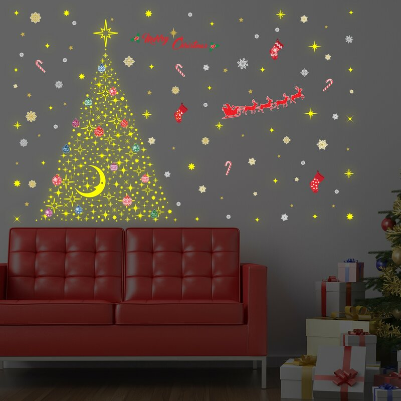 The Holiday Aisle Magic Glow Christmas Wall Decal | Wayfair