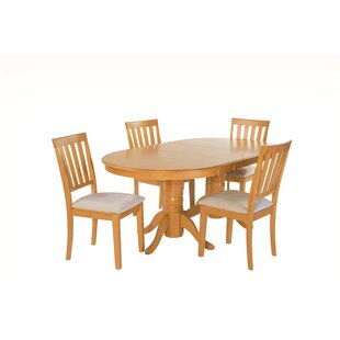 Inwood 5 Piece Extendable Solid Wood Dining Set 2019 Online