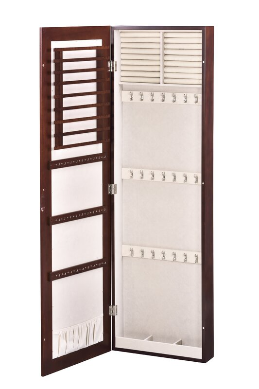 HomePointe Wall Mounted Jewelry Armoire with Mirror Reviews