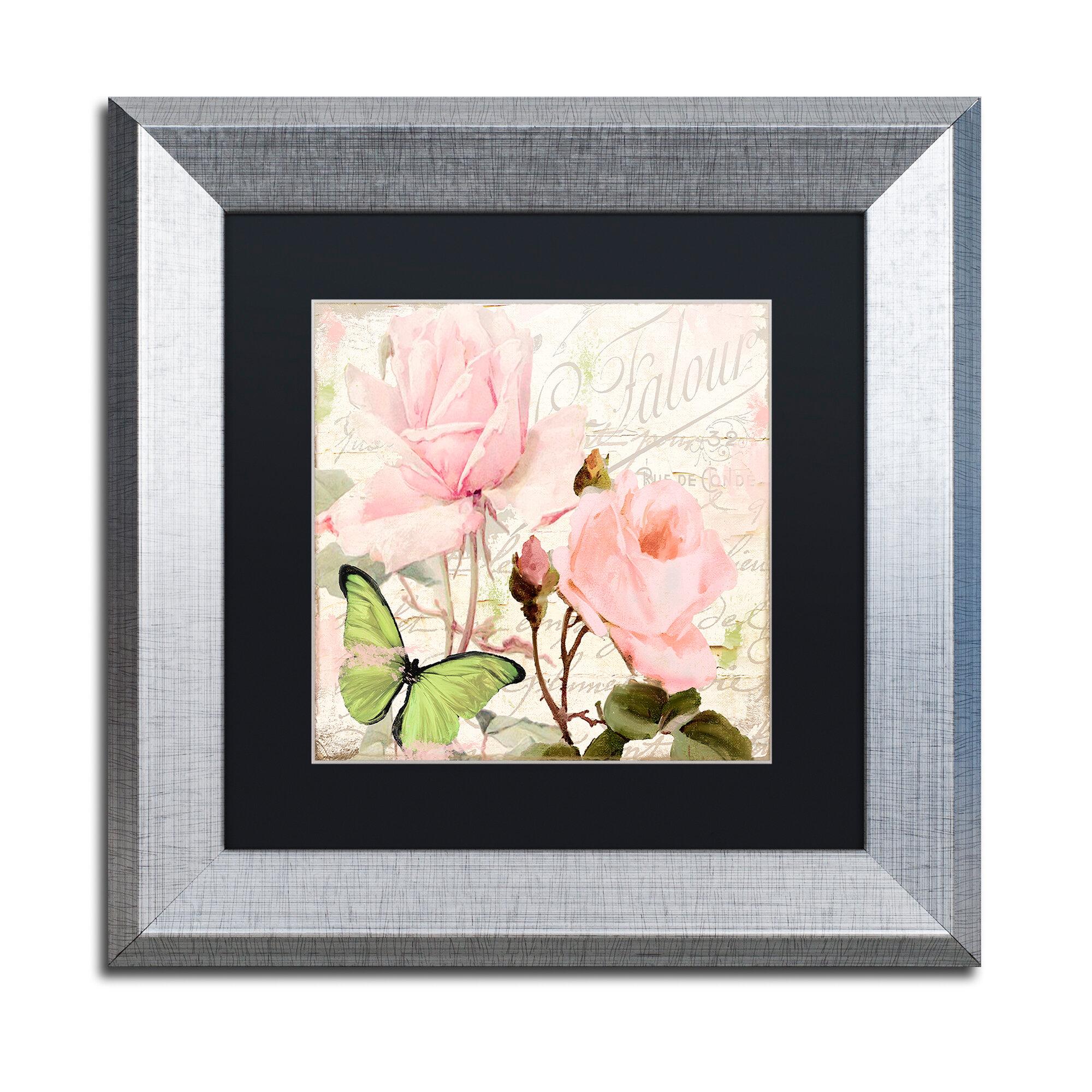 Trademark art 39 florabella iii 39 framed graphic art wayfair for Bella flora chaise lounge