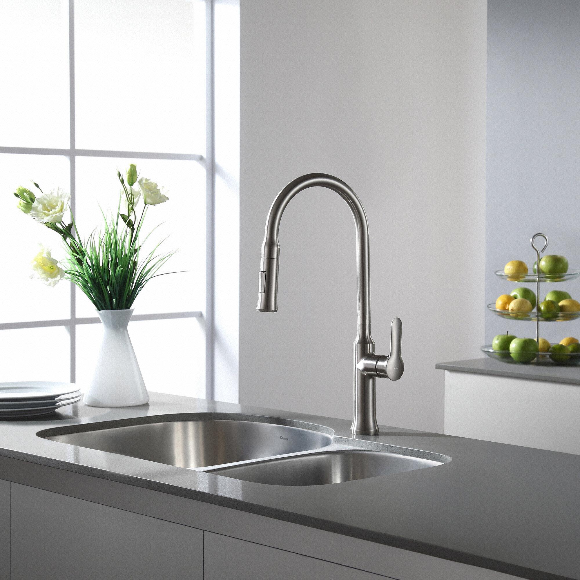 Incroyable KPF 1630SS,CH Kraus Nola Pull Down Single Handle Kitchen Faucet U0026 Reviews    Wayfair