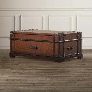 Delavan Steamer Coffee Table Trunk with Lift Top by Darby Home Co