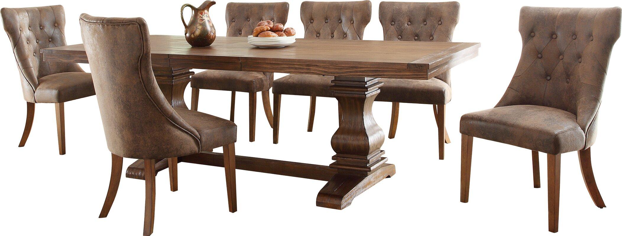 Dining Wood Table: Lark Manor Parfondeval Extendable Wood Dining Table