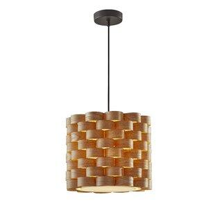 Interior pendant lighting Barn Bourgoin 1light Drum Pendant Premium Home Interior Pendant Lighting Youll Love Wayfair