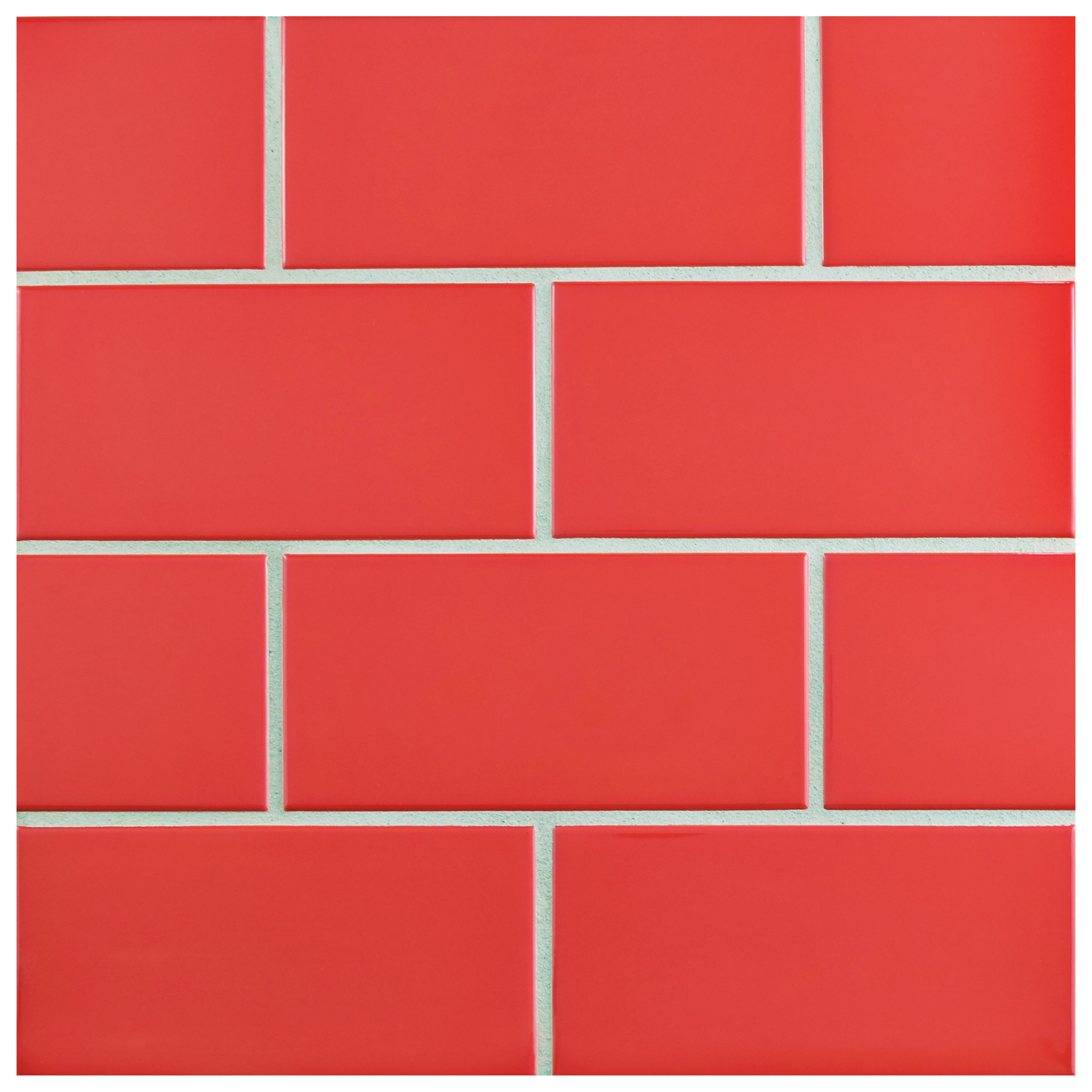 Elitetile Prospect 3 X 6 Ceramic Subway Tile In Glossy Le Red Wayfair