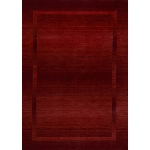 Empire Handwoven Wool Red Rug by Theko