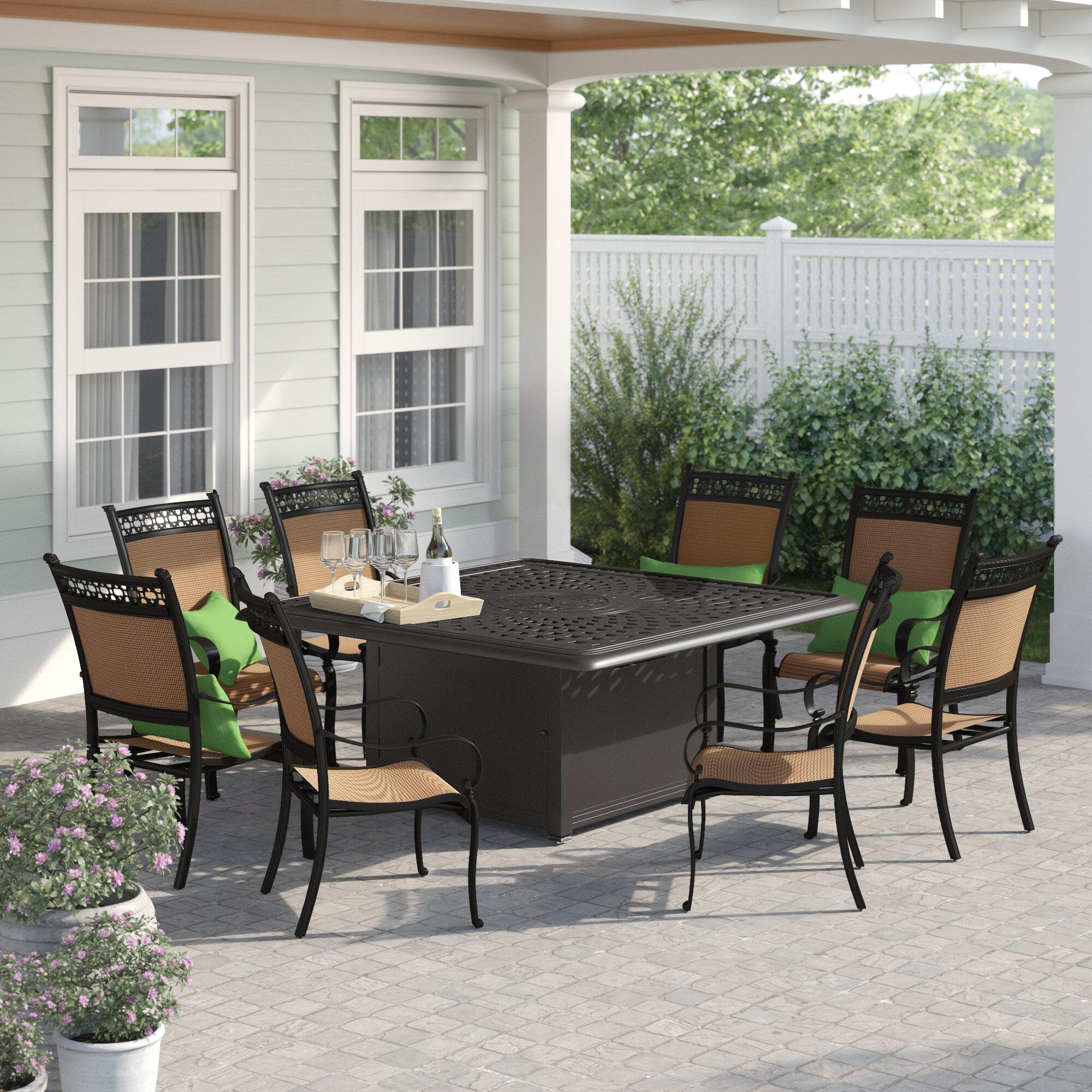 Groovy Curacao 9 Piece Metal Frame Dining Set Ibusinesslaw Wood Chair Design Ideas Ibusinesslaworg
