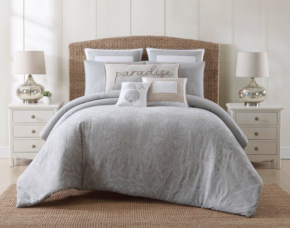 java graywhite comforter set. beachcrest home java graywhite comforter set  reviews  wayfair