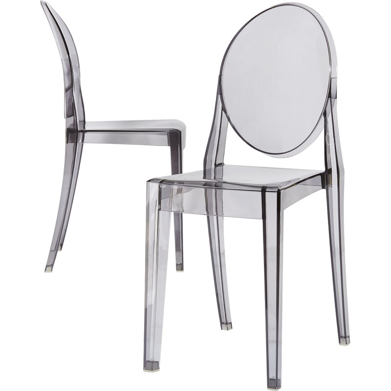 Kartell Ghost Victoria Stacking Patio Dining Chair
