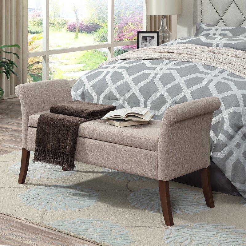 Belham Living Darby Mid Century Modern Upholstered Bench | Hayneedle