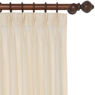 Sadler Solid Sheer Pinch Pleat Single Curtain Panel