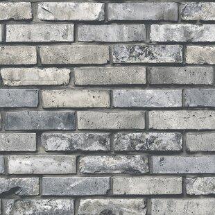 brick wood stone wallpaper you ll love wayfair