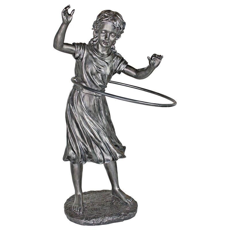 Harriet Hula Hooping Girl Garden Statue