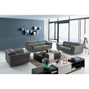 Coalpit Heath Leather 3 Piece Living Room Se..
