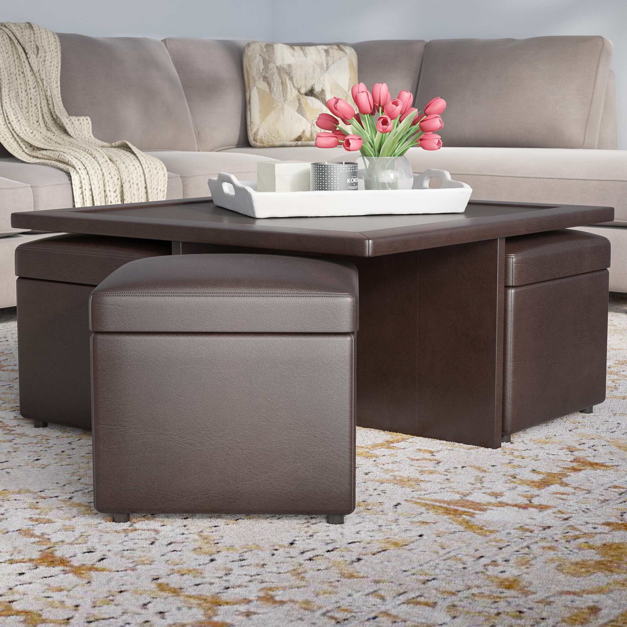 chairs coffee brown stools table homegenic products rogue mystique set with