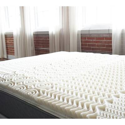 Alwyn Home Zone Egg Crate 15 Memory Foam Mattress Topper Wayfair