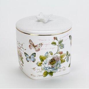 Butterfly Garden Shower Storage Jar