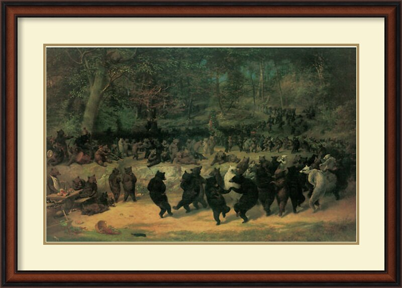 Amanti Art \'The Bear Dance\' by William Beard Framed Painting Print ...