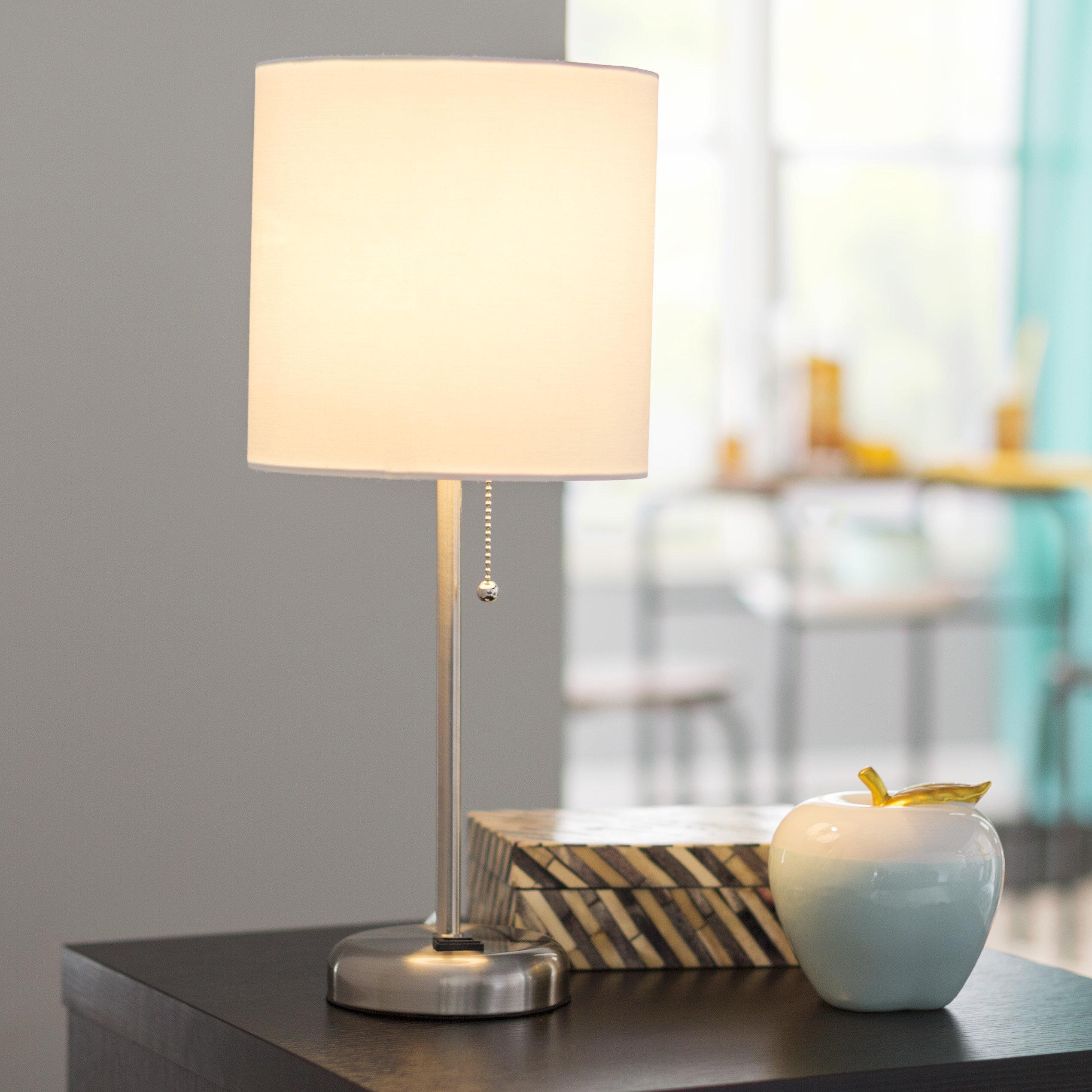 Zipcode design zainab 195 table lamp reviews wayfair greentooth Gallery