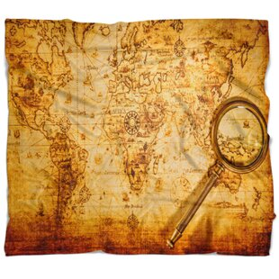 World map blanket wayfair abstract magnifying glass on world map blanket gumiabroncs Images