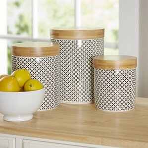 Good Wilshire 3 Piece Kitchen Canister Set