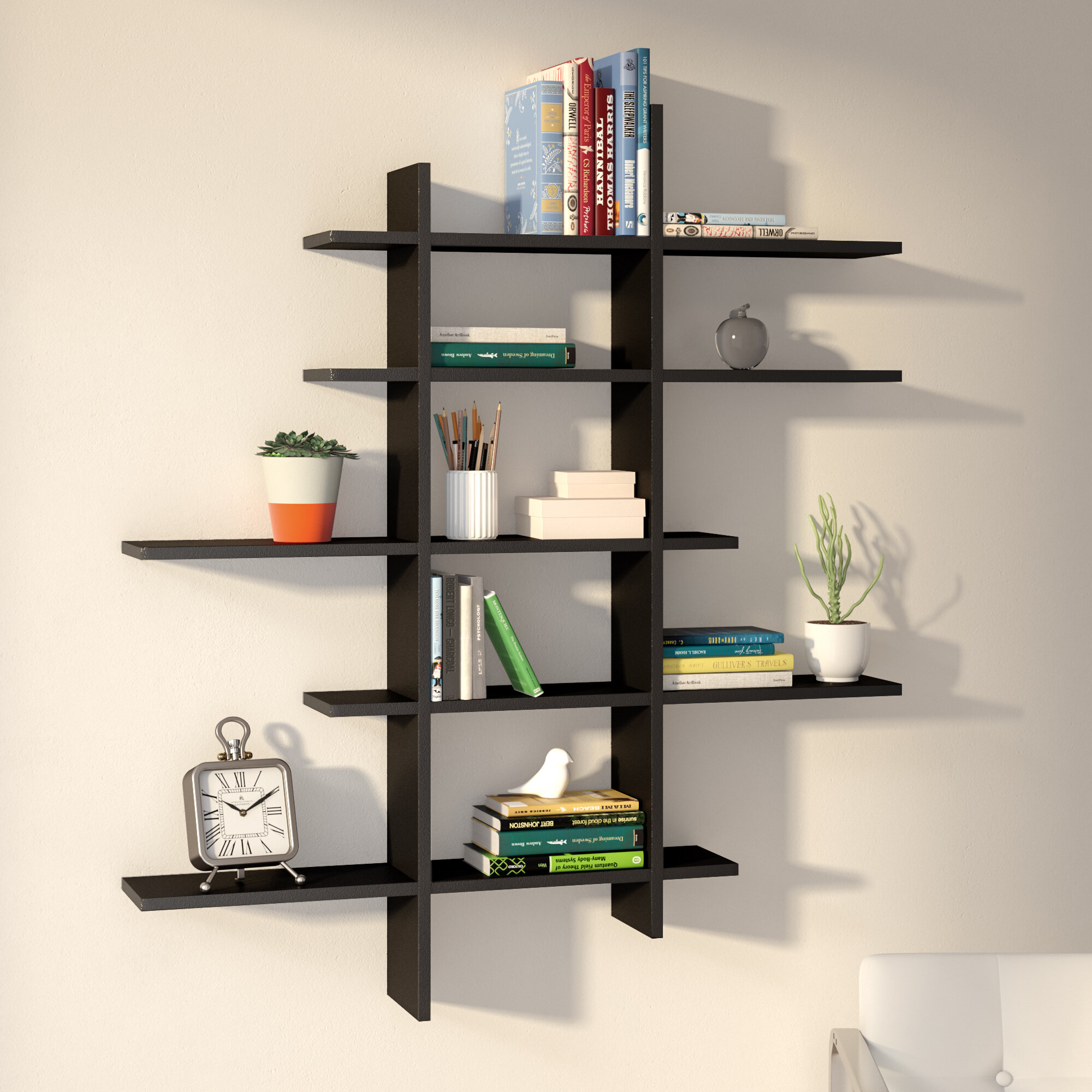 shelf wall shelves teeline set of