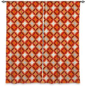 Geometric Room Darkening Rod Pocket Curtain Panels (Set of 2)