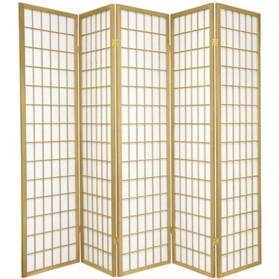 Bungalow Rose Leiva Room Divider Color: Gold, Number of Panels: 5