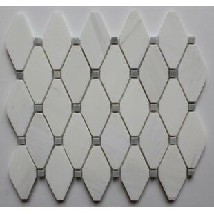 2 X Marble Mosaic Tile In Bianco Dolomite Gray