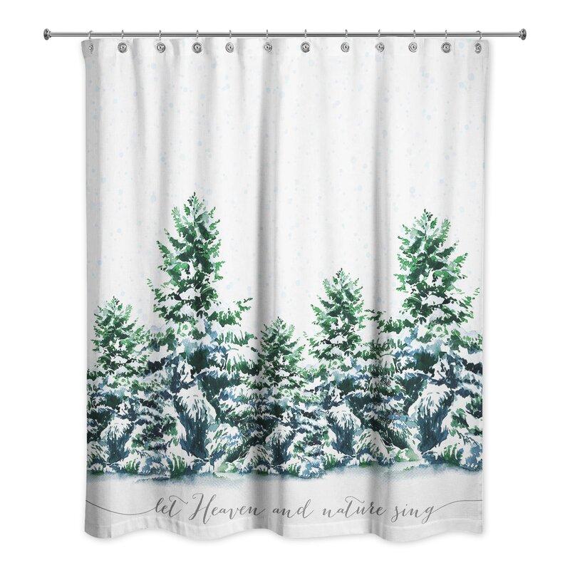 Liz Snowy Winter Forest Shower Curtain
