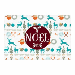 Famenxt Noel Digital Blue/White Area Rug