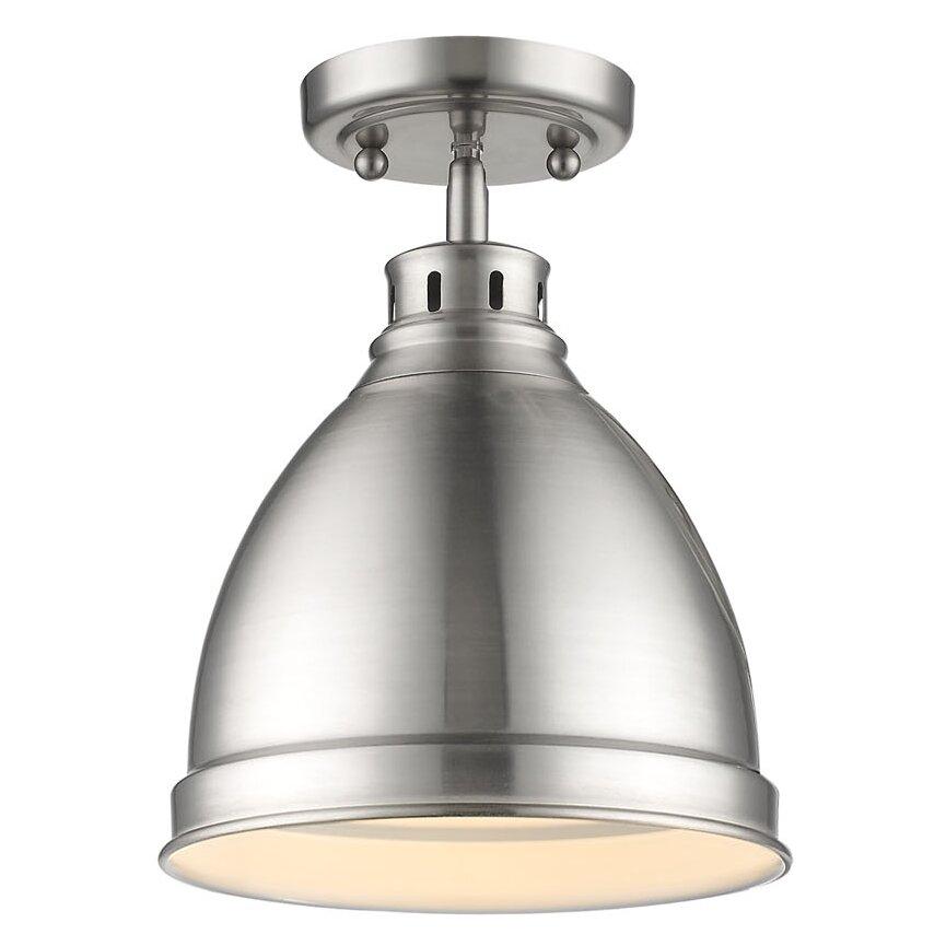Beachcrest Home Bodalla 3 Light Metal Vanity Light Reviews: Beachcrest Home Bodalla 1-Light Semi Flush Mount & Reviews