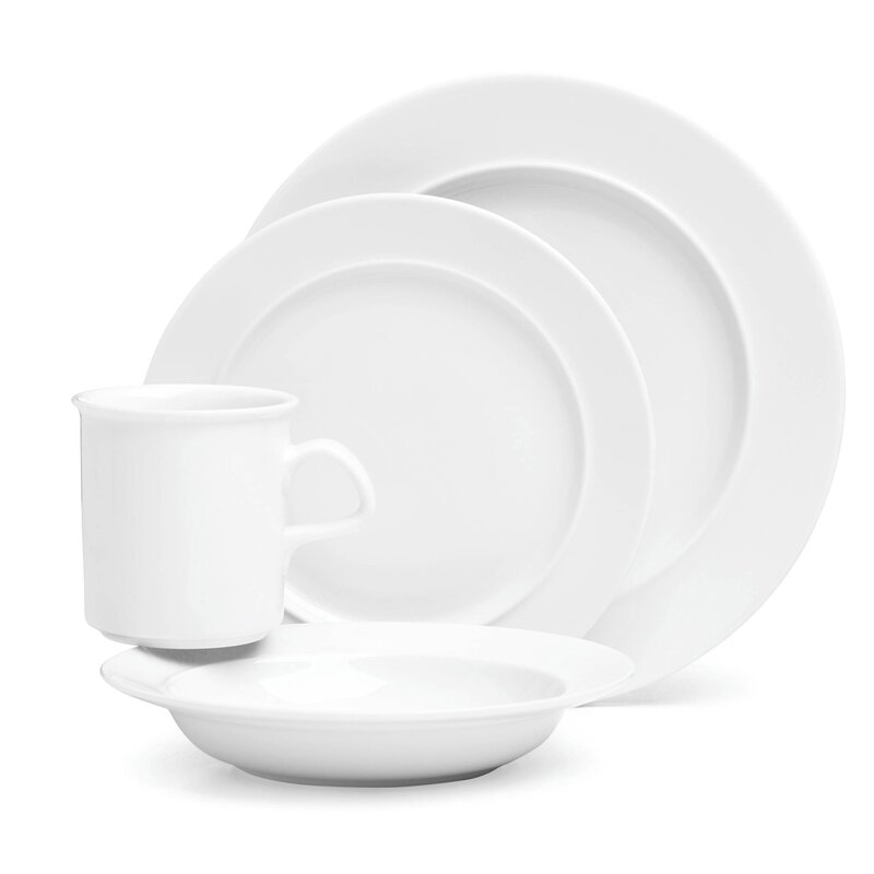 Cafe Blanc 4 Piece Place Setting Service for 1  sc 1 st  Wayfair & Dansk Cafe Blanc 4 Piece Place Setting Service for 1 | Wayfair