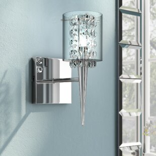 Sconces youll love wayfair brookstead 1 light wall sconce aloadofball Images