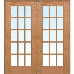 wood 2panel red oak interior french door