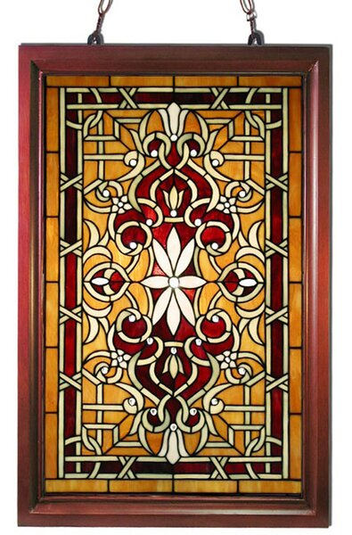 Warehouse Of Tiffany Wood Frame Stained Gl Window Panel Reviews