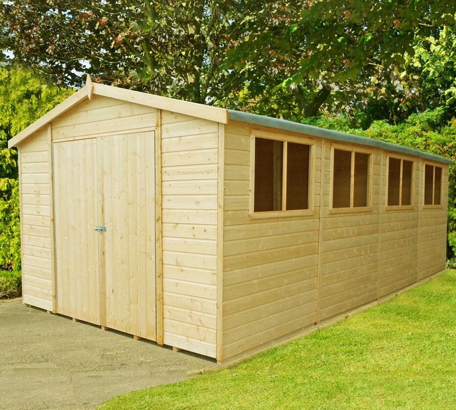Other Structures & Shade Home & Garden Trustful 20ft X 10ft Heavy Duty Garden Shed Extra Height Top Quality Wooden Timber