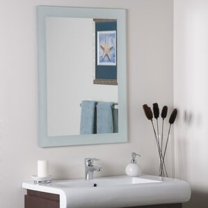 grendon frameless wall mirror - Bathroom Sink And Mirror