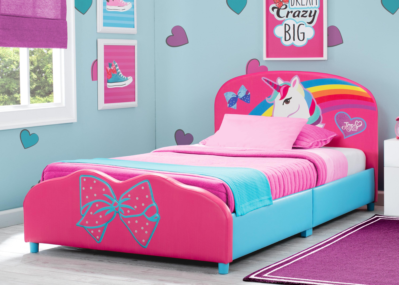 Delta Children Jojo Siwa Upholstered Twin Platform Bed Wayfair
