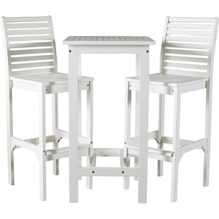 Delightful Mahler 3 Piece Bar Height Dining Set