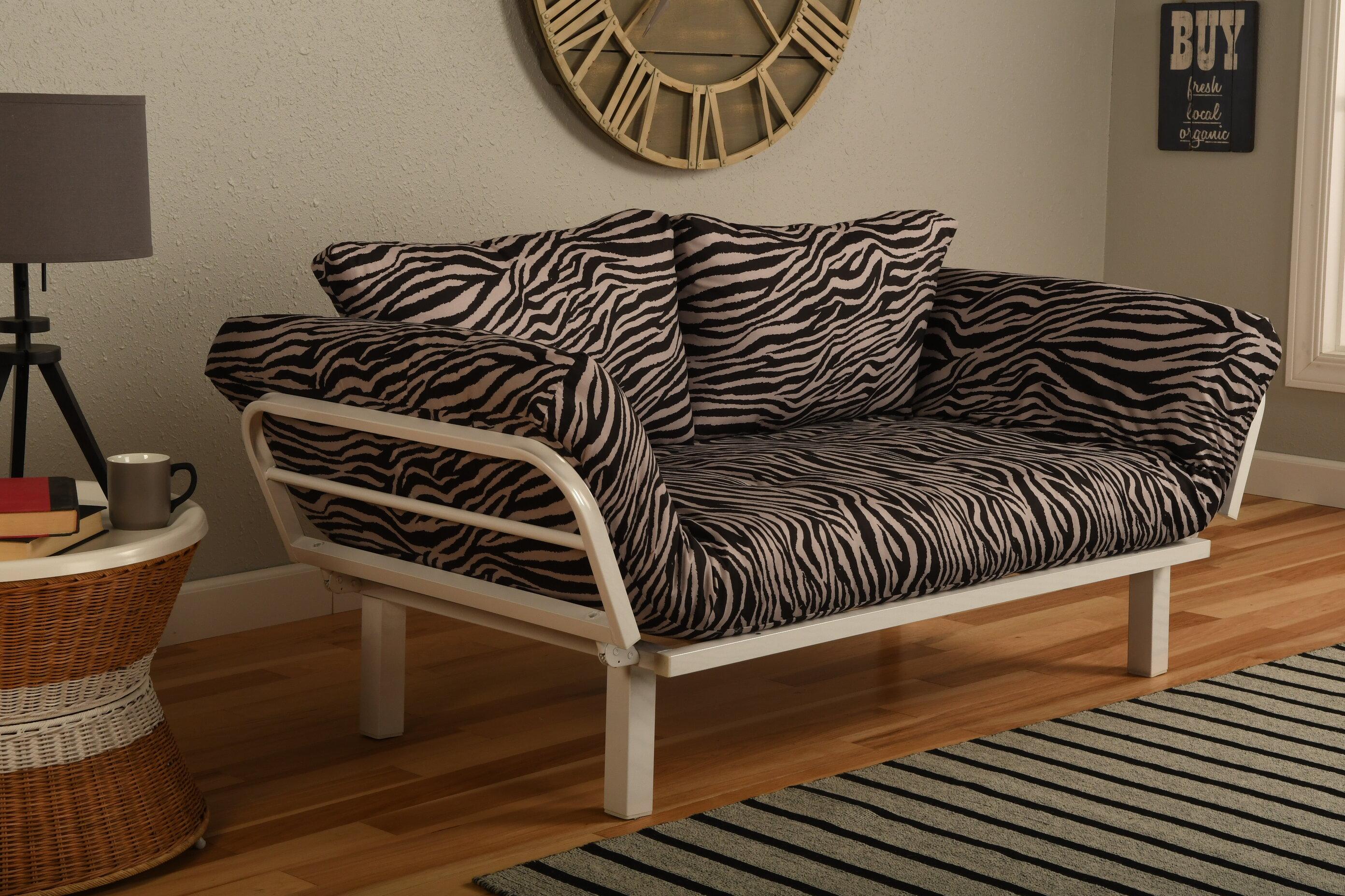 Bloomsbury Market Maloof Convertible Lounger In Zebra Zen Futon And Mattress Reviews Wayfair