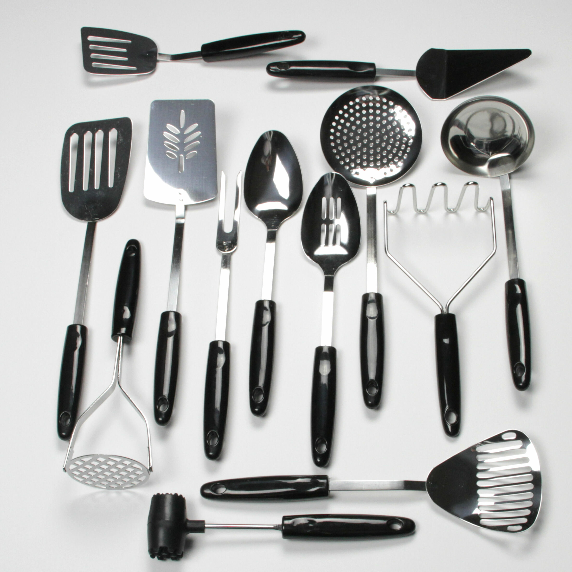 Chef craft 13 piece select stainless steel kitchen utensil set reviews wayfair